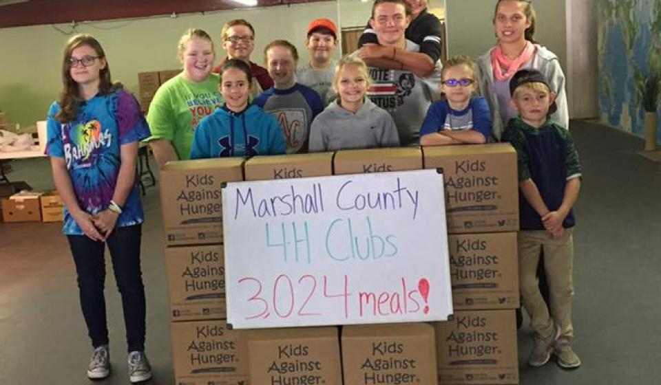 4-H Kids Against Hunger Service Project